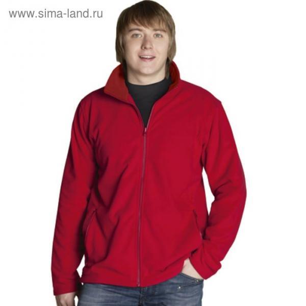 Толстовка мужская StanSoft, размер 52, красный 200 г/м