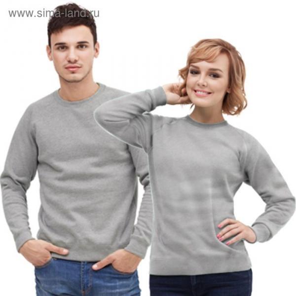 Толстовка муж/жен StanSweatshirt, размер 52, цвет серый меланж 280 г/м