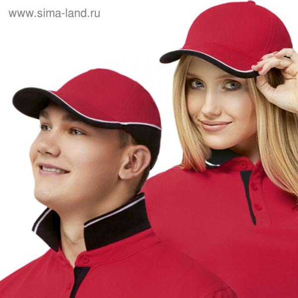 Бейсболка StanTwoСolors, one size, цвет красный 200 г/м
