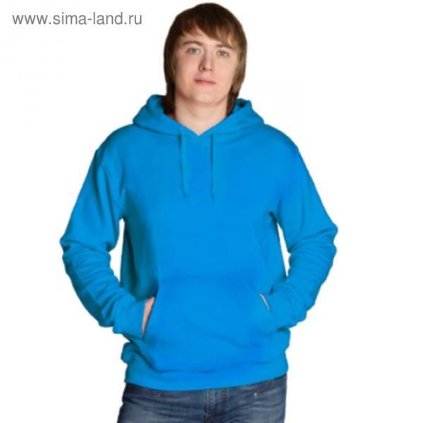 Толстовка мужская StanFreedom, размер 46, цвет лазурный 280 г/м
