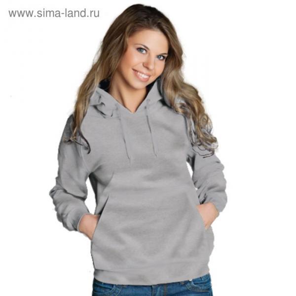 Толстовка женская StanFreedom, размер 52, цвет серый меланж 280 г/м