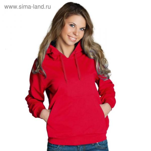Толстовка женская StanFreedom, размер 48, цвет красный 280 г/м