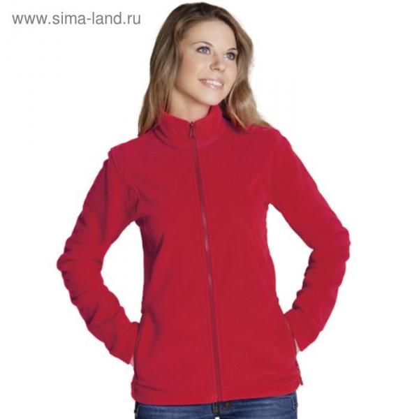 Толстовка женская StanSoft, размер 44, цвет красный 200 г/м