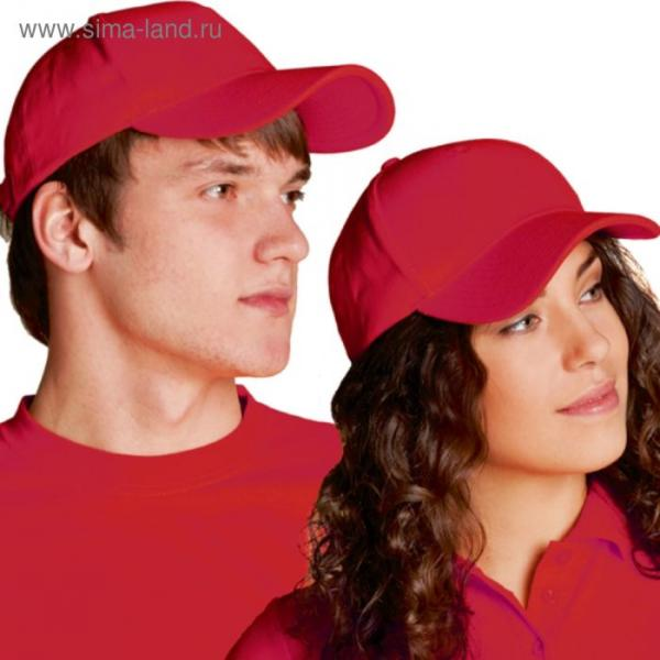 Бейсболка StanComfort, one size, цвет красный 200 г/м