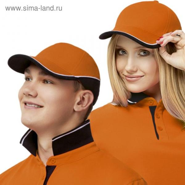 Бейсболка StanTwoСolors, one size, цвет оранжевый 200 г/м