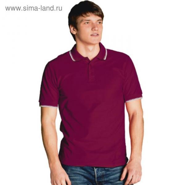 Рубашка-поло мужская StanTrophy, размер 48, цвет винный 185 г/м