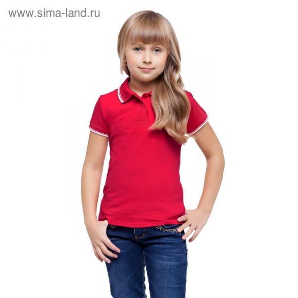 Рубашка-поло детская StanTrophy Junior, 8 лет, цвет красный 185 г/м