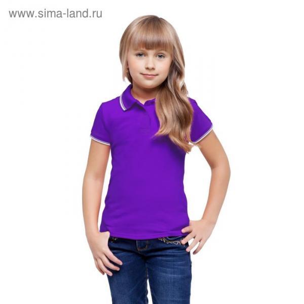 Рубашка-поло детская StanTrophy Junior, 8 лет, цвет фиолетовый 185 г/м