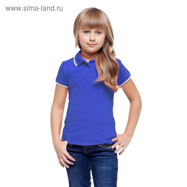 Рубашка-поло детская StanTrophy Junior, 14 лет, цвет синий 185 г/м