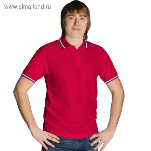 Рубашка-поло мужская StanRussian, размер 50, цвет красный 185 г/м