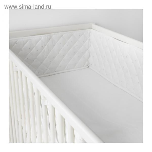 Бортик в кроватку ХИММЕЛЬСК, размер 60х120 см, цвет серый