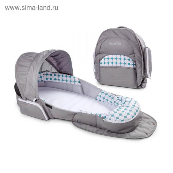 Складная кроватка Baby Delight Traveler BL серая