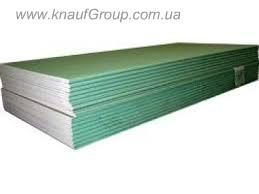 Влагостойкие гипсокартонные плиты  ГКЛВ 12,5*1200*2500 мм