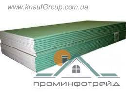 Фото Гипсокартон и профили для гипсокартона, Гипсокартон Влаго-потолочные  гипсокартонные плиты 1,2 х 2 м  KNAUF ГКЛВ 9,5 мм