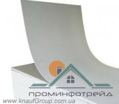 Фото Гипсокартон и профили для гипсокартона, Гипсокартон Гипсокартонный лист арочный  6,5*1200*2500 мм