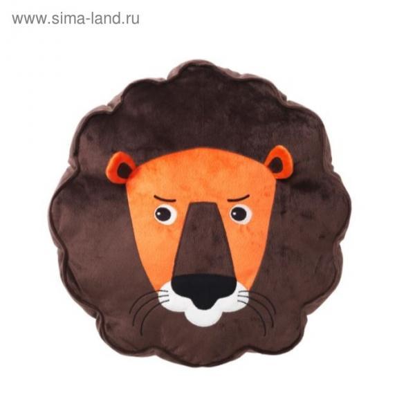 Подушка ДЬЮНГЕЛЬСКОГ, размер 39х39 см, лев, цвет коричневый