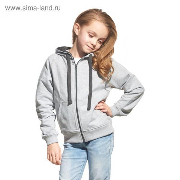 Толстовка детская StanCoolJunior, рост 128 см, цвет серый