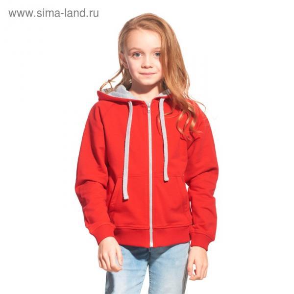 Толстовка детская StanCoolJunior, рост 128 см, цвет красный