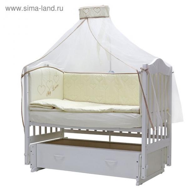 Комплект в кроватку «Любовь», 7 предметов 756