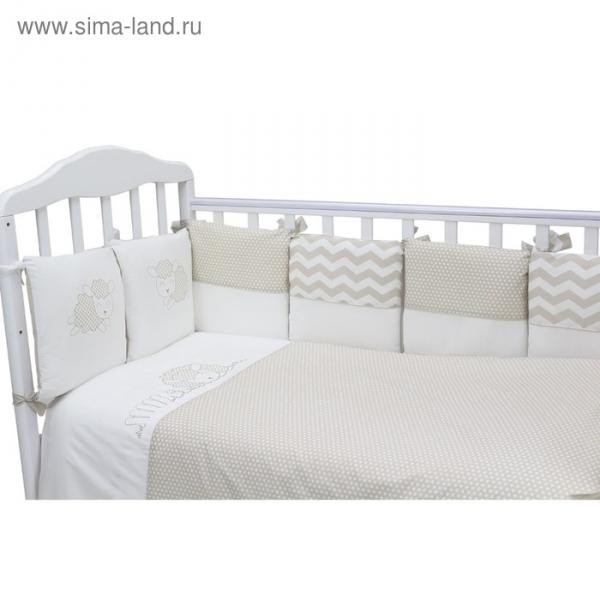 "Борт в кроватку ""Долли"": подушки 30х30 см-12 шт., цвет серый 170/8"