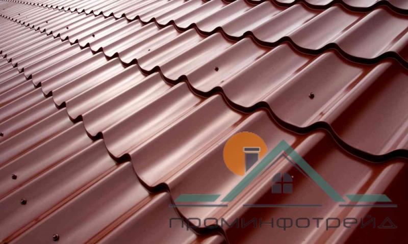 Фото Металлочерепица, Металлочерепица Гранд/Классик (Монтеррей) Металлочерепица Гранд/Классика (Монтеррей) PE (Полиестер), 0,50 мм, Словакия (Гарантия отзавода, маркированный металл)