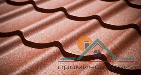 Фото Металлочерепица, Металлочерепица Гранд/Классик (Монтеррей) Металлочерепица Гранд/Классика (Монтеррей) МPE (Матовый Полиестер), 0,5 мм, Словакия (Гарантия от завода маркированный металл)