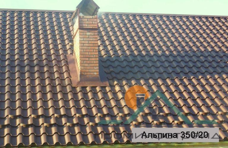 Фото Металлочерепица, Металлочерепица Альпина/Премиум Металлочерепица Альпина/Премиум МPE (Матовый Полиестер), 0,50 мм, Италия (Гарантия 20 лет)
