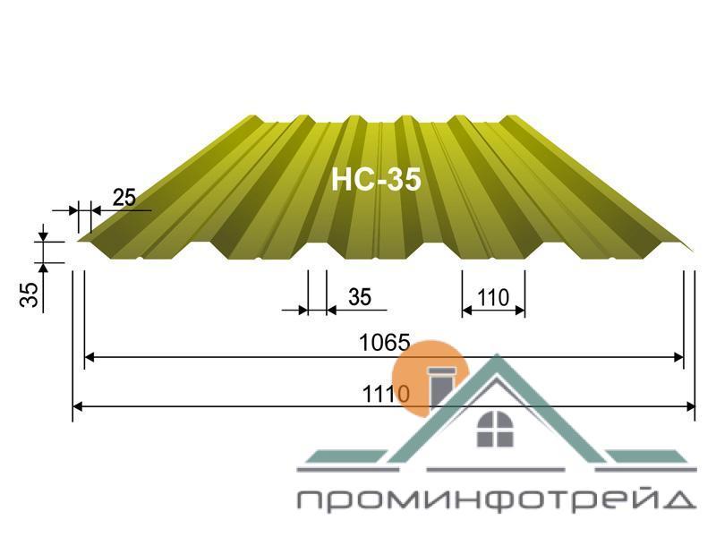 Фото Профнастил, Профнастил НC-35  Профнастил НС-35