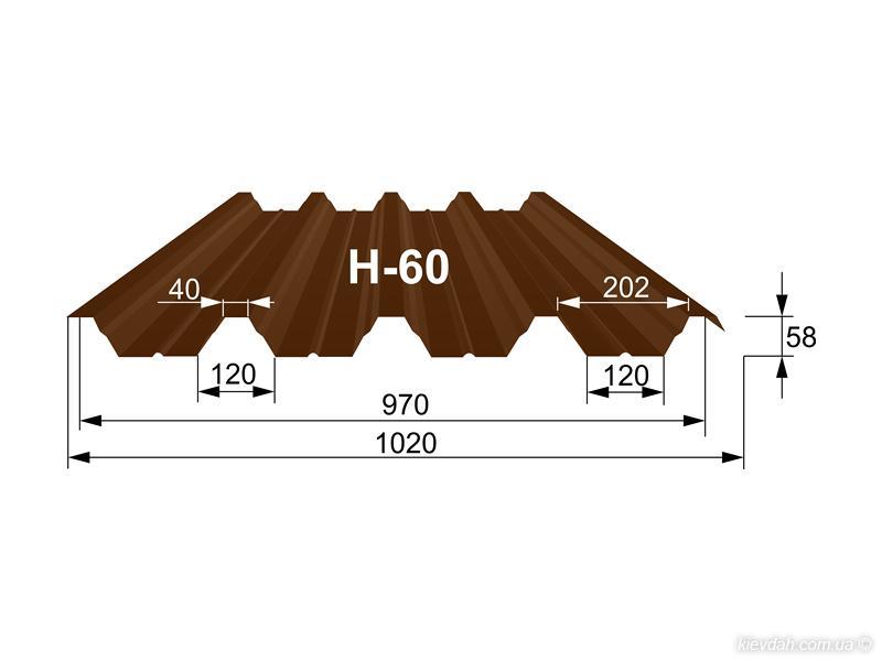 Профнастил H-60