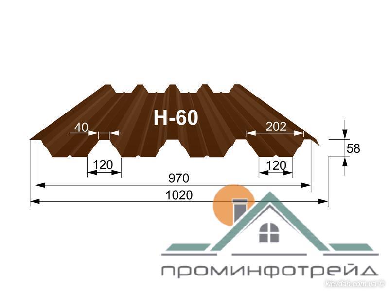 Фото Профнастил, Профнастил Н-60 Профнастил H-60