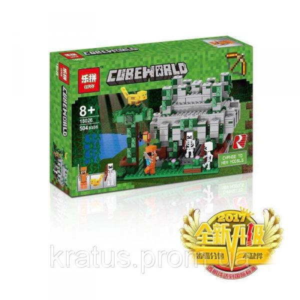 "18026 Lepin (Bela 10623) аналог Lego Minecraft 21132 ""Храм в Джунглях"" 504 детали"