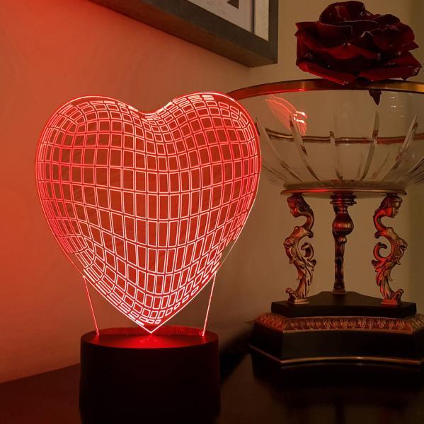 3D светильник Граненое Сердце
