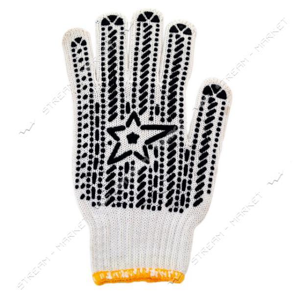 Перчатки рабочие Алиско Звезда белые