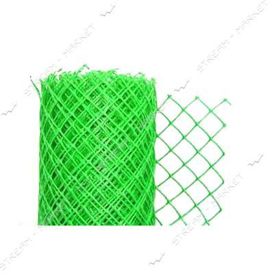 Сетка пластиковая Ромб ячейка 30х30мм 1.5х10м зеленая