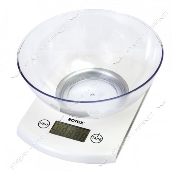 Rotex весы кухонные RSK18-P электрон., 5кг, ж/к дисплей, сенсорное управление, чаша - пластик