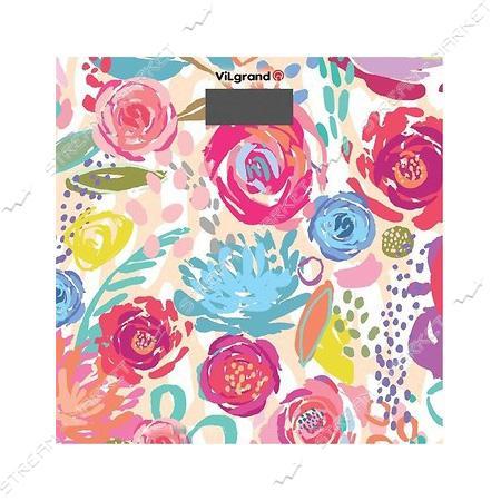 Весы напольные Vilgrand VFS-1828 цветы 180кг