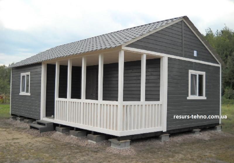 Дачный домик 9м х 6м с террассой