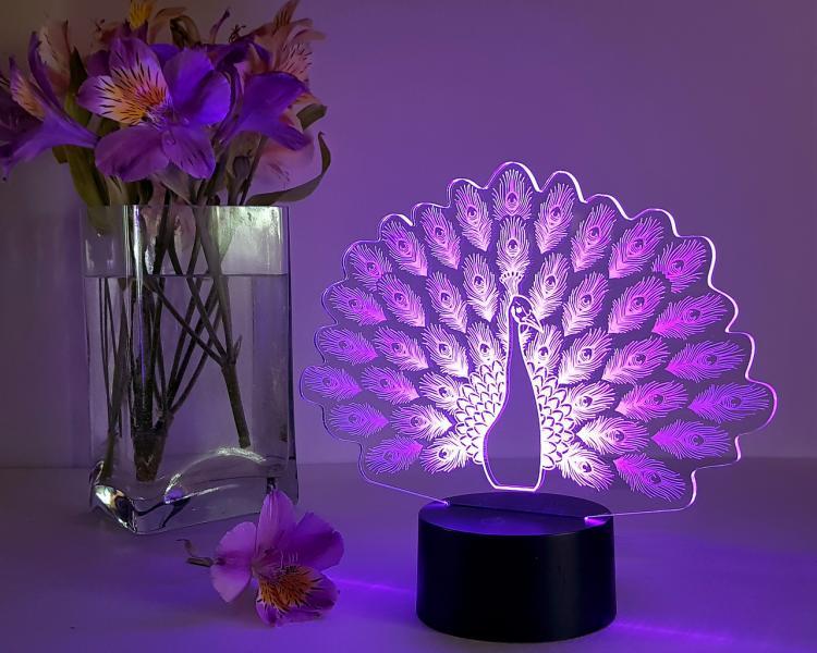 3D светильник Павлин