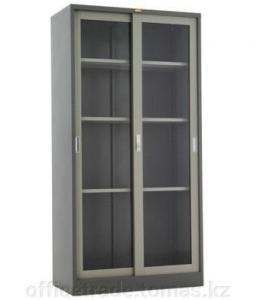Фото Шкафы купе (командор или сенатор)  Шкаф купе для документов с раздвижными дверьми из стекла