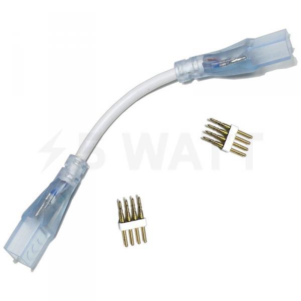 Коннектор для светодиодных лент 220В 5050 RGB (2разъема-провод + 4pin (2шт.))