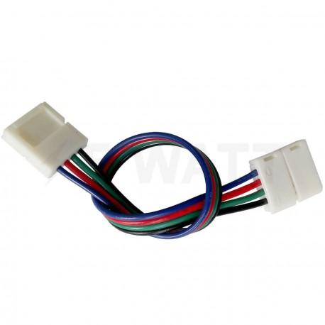 Коннектор для ledлент OEM №9 10mm RGB 2joints wire провод-2 зажима