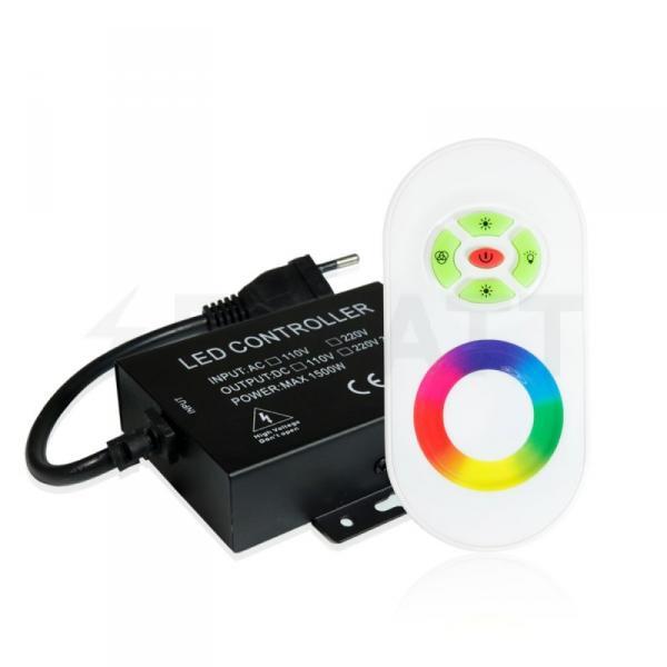 Контроллер RGB 220В OEM 1500W-RF-5 кнопок