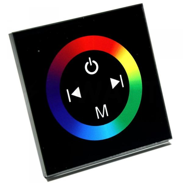 Контроллер RGB OEM 12V 12A-Touch black встраиваемый