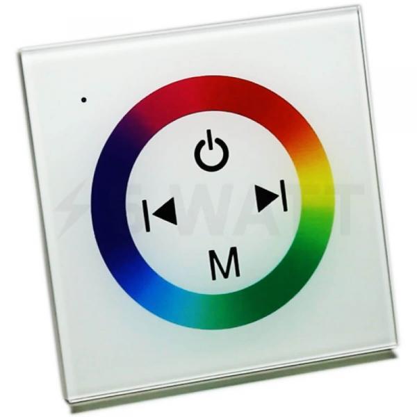 Контроллер RGB OEM 12V 12A-Touch white встраиваемый
