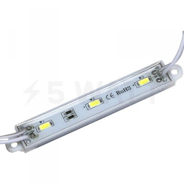 Светодиодный модуль BRT 5630-3 led W 1,5W 6500K, 12В, IP65 белый
