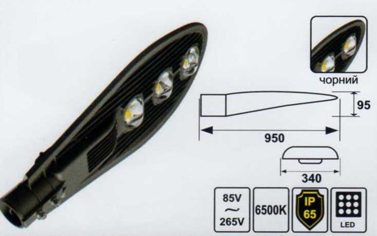 Светодиодный светильник уличный Lemanso 150W 19500LM CAB51-150