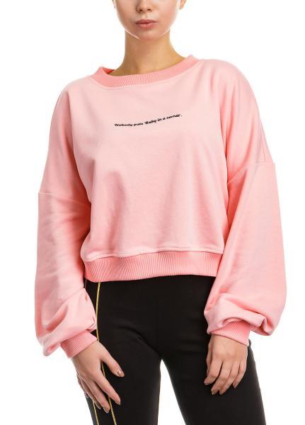 Спортивный женский хлопковый кроп-топ Baby swetshirt