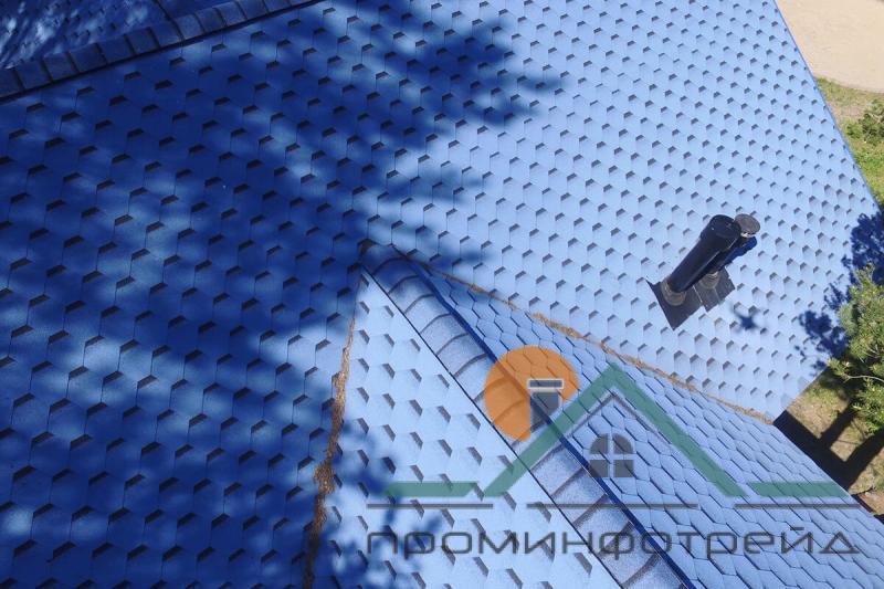 Фото Битумная черепица,  KATEPAL (катепал), Коллекция Katrilli Гибкая черепица Katepal (Синий)