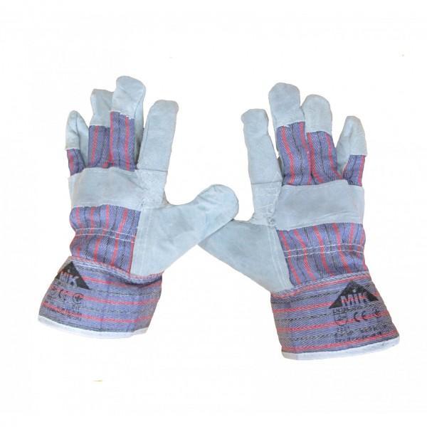 Перчатки комбинированные со спилком EC 004 А
