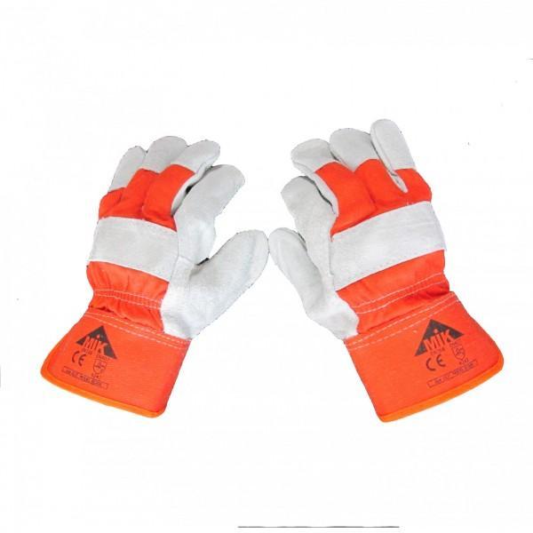 Перчатки комбинированные рабочие со спилком EC 008